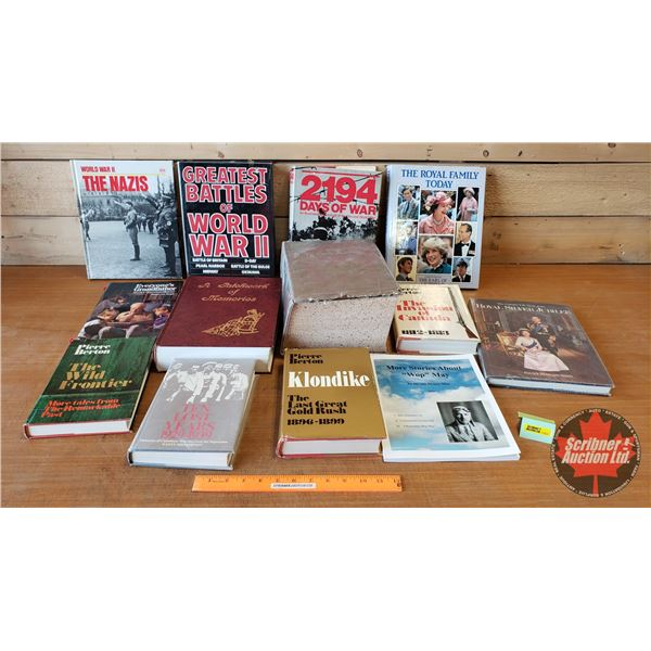 BOOKS (13): History Theme (Incl: Greatest Battles of WWII, The Invasion of Canada 1812-1813, Royal S