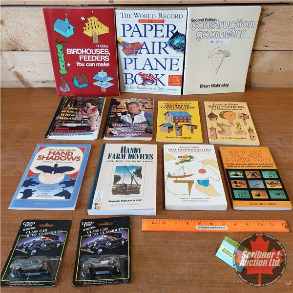 BOOKS (11): Youth Theme (Paper Airplanes & Bird Feeders) (Building, Crafts, Handyman, etc) + 2 Unope