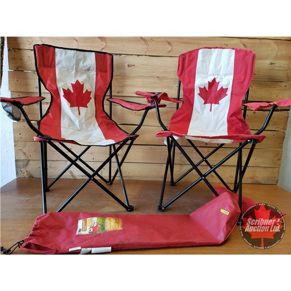 Folding Camping Chairs (Red) (2)