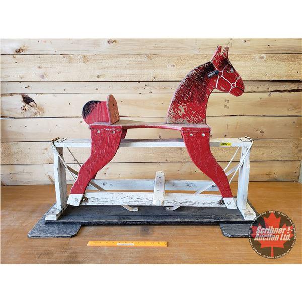 "Wooden Horse Rocker ""Pinto"""