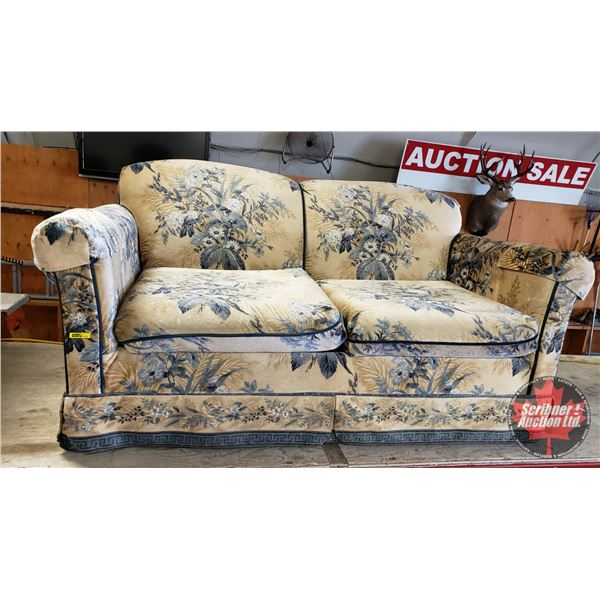 "Love Seat (30""H x 58""W x 32""D) (Matching Pattern to Lot#1223 & #1224)"