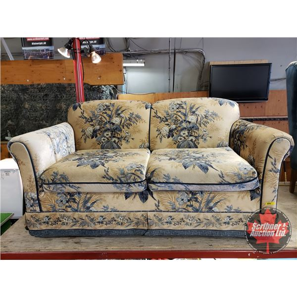 "Love Seat (30""H x 58""W x 32""D) (Matching Pattern to Lot#1222 & #1223)"