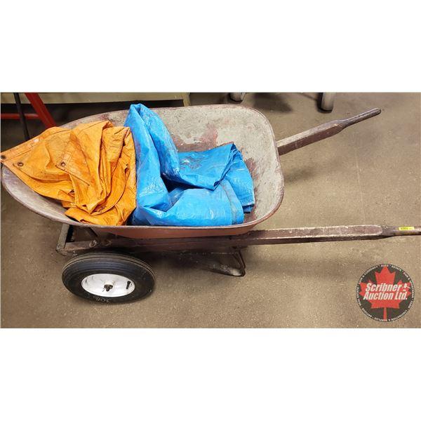 Wheelbarrow (2 Wheel) + 2 Tarps