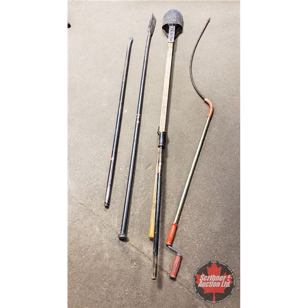 Posthole Digger & 2 Bars & Heavy Duty Rotary Snake