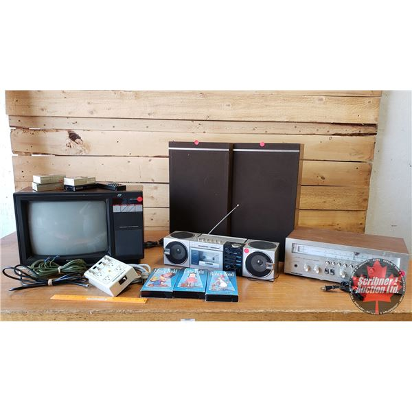 Retro Electronics (Incl: TV, Speakers, Stereo Receiver, Boombox)