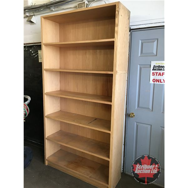 "Plywood Shelving Unit - 6 Shelf (89""H x 46""W x 14""D)"