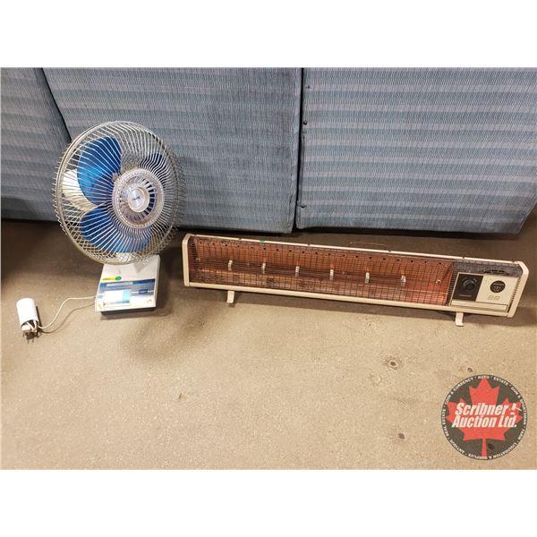 """12"""" Oscillating Fan & Fan Force Radiant Heater"""