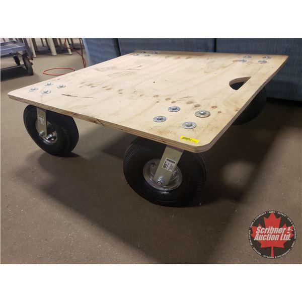 """Large Roller on Castors (12-1/2""""H x 33""""W x 33""""D)"""