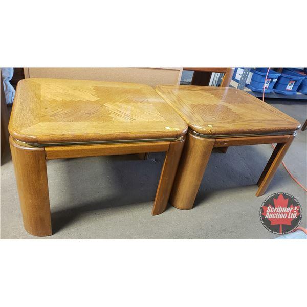 """Oak Coffee/Side Tables (2) (20""""H x 24""""W x 27-1/2""""D)"""