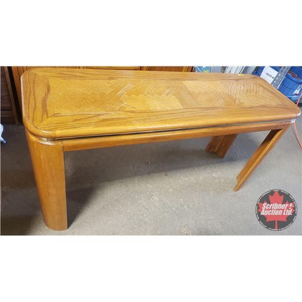"Oak Sofa Table (27-1/2""H x 53""W x 17""D)"