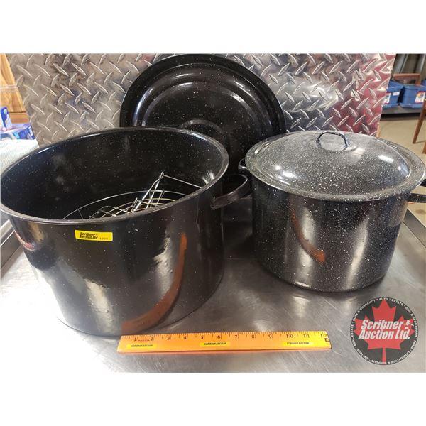 Enamel Canning Pots (2)