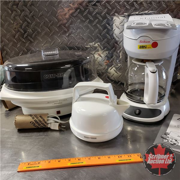 Kitchen Trio: Kettle, Coffee Maker & Rice Cooker