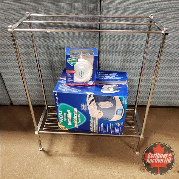 "Vick's Humidifier, Vick's Waterless Vaporizer & Blanket Rack (31-1/2""H = Rack)"
