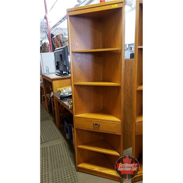 "Corner Curio Unit - 4 Shelves / 1 Drawer (77""H x 24""W x 12""D) (NOTE: Lot 1255, 1277, 1278 & 1279 are"