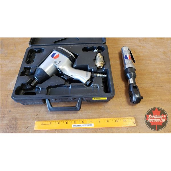 """Devilbiss 1/2"""" Impact Wrench & 3/8"""" Ratchet Wrench"""