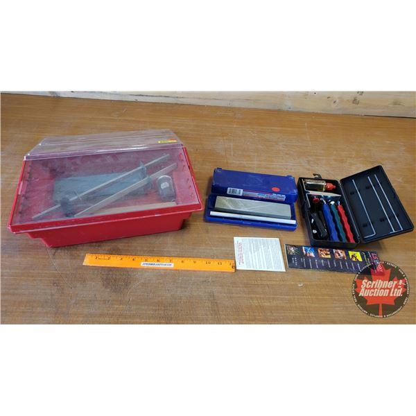 Lansky Knife Sharpening Set, Waterstone Combination Grit Bench Stone & King Whetstone Kit