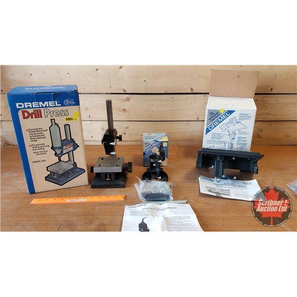 Dremel Attachments (3): Drill Press, Shaper Router Table, Mini Router Converter