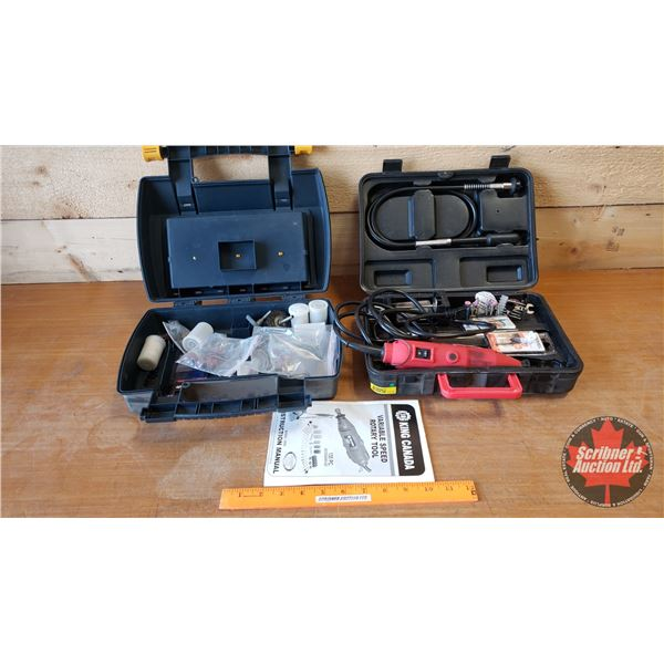 King Canada Variable Speed Rotary Tool w/Many Attachments! (SEE PICS!)