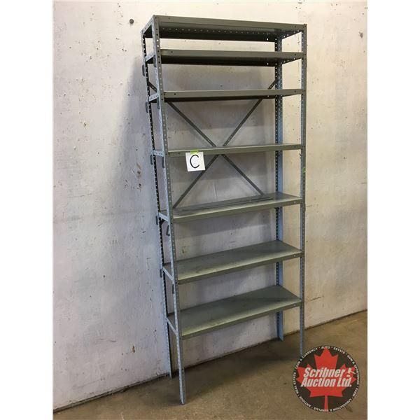 """Adjustable Metal Shelving Unit (7 Shelves) (87""""H x 36""""W x 12""""D)"""
