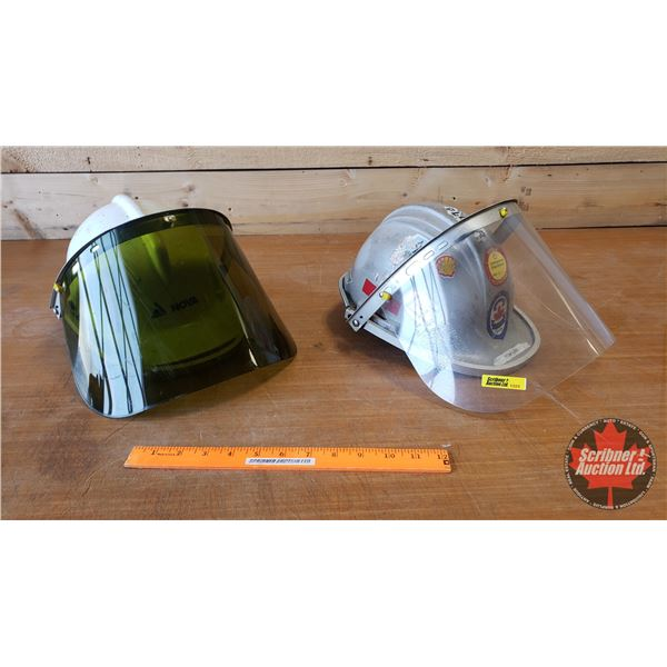 Adjustable Helmets w/Face Shields (2) (One Clear & One Tinted)