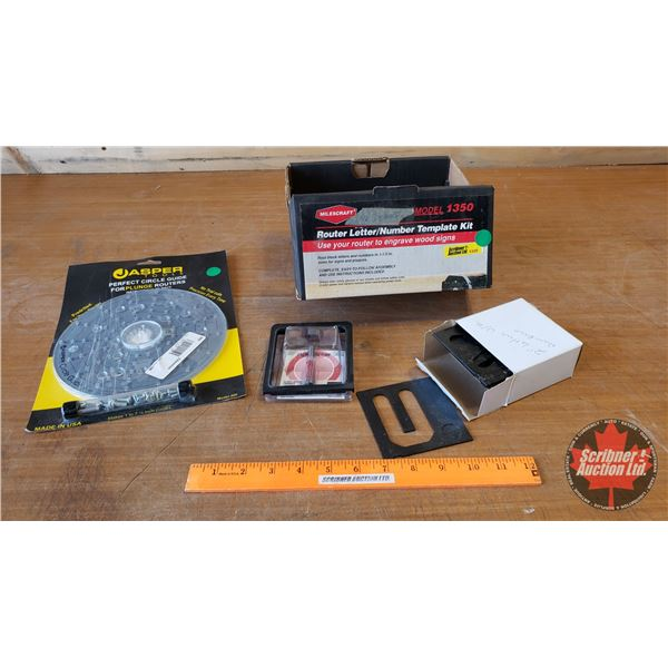Router Letter/Number Template Kit & Circle Guide for Plunge Routers