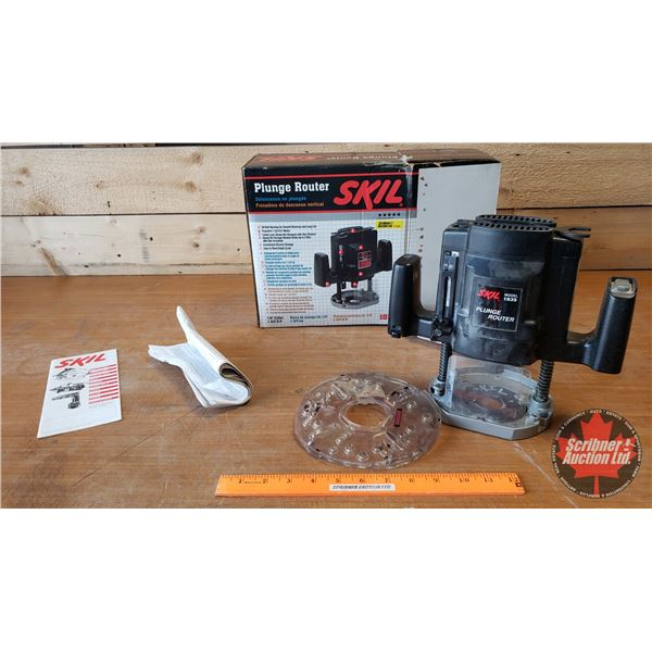 Skil Plunge Router w/Router Bits