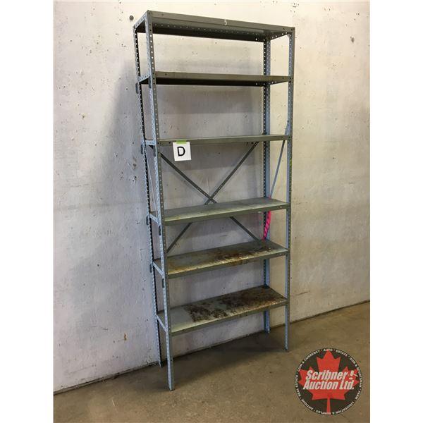 """Adjustable Metal Shelving Unit (6 Shelves) (87""""H x 36""""W x 12""""D)"""
