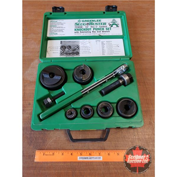 Greenlee Slug Buster Knock Out Punch Set w/Ratcheting Box End Wrench