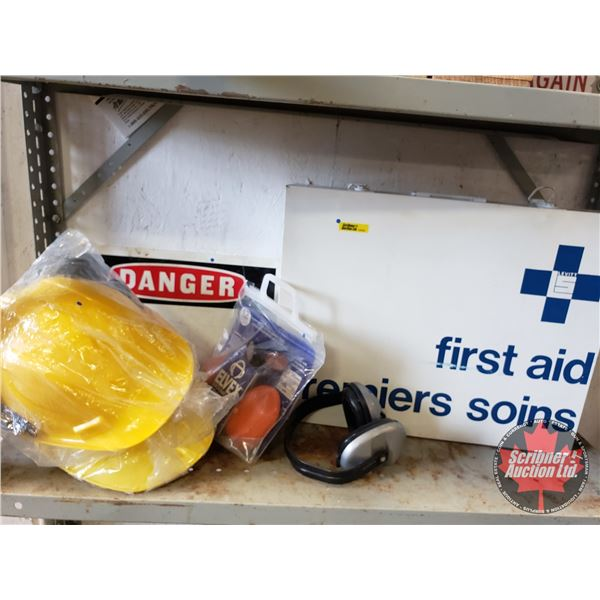 Safety Gear (First Aid Kit, Helmets, Ear Muffs, Danger Signs) (SEE PICS!)