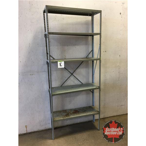 """Adjustable Metal Shelving Unit (5 Shelves) (87""""H x 36""""W x 12""""D)"""