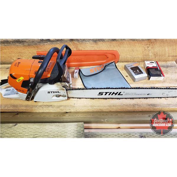 """STIHL Chain Saw MS441 C-M (25"""" Bar) c/w 2 Extra Chains & Spark Plug"""