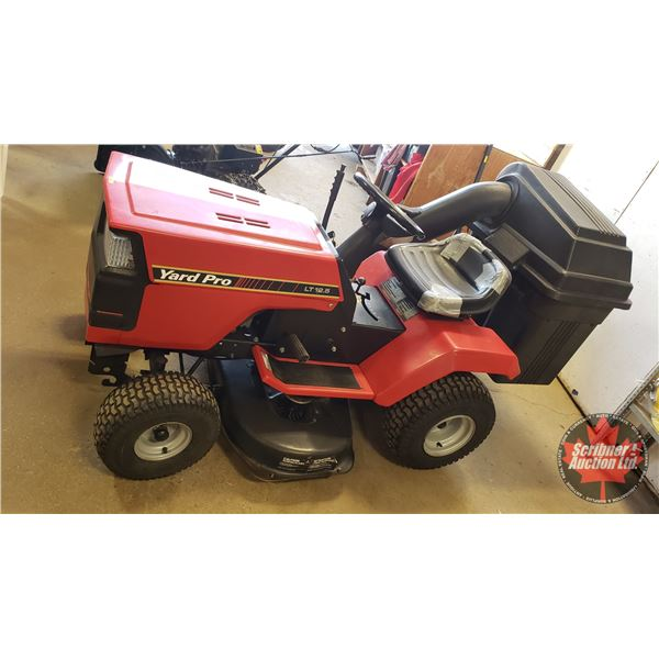 "Yard Pro LT 12.5 Ride On Lawn Mower 38"" Cut with Rear Bagger"
