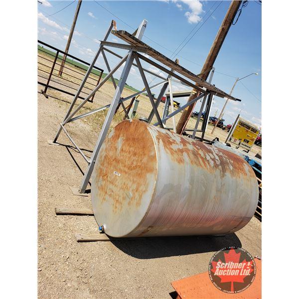 "Westeel 500gal Fuel Tank & Stand (Tank 73""L x 49""Dia) (Stand 96""H)"