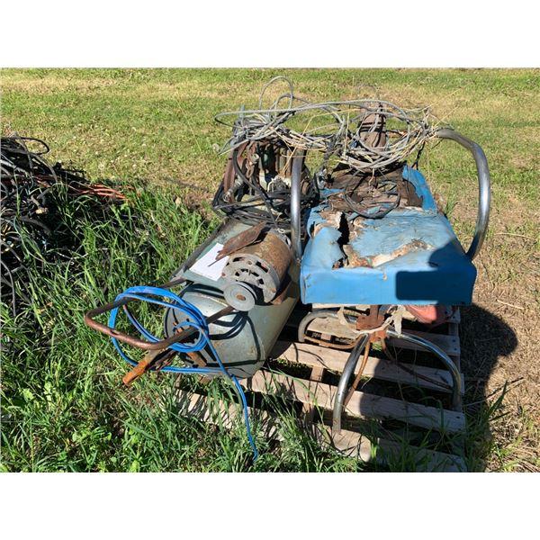 Pallet - Scrap Steel, compressor