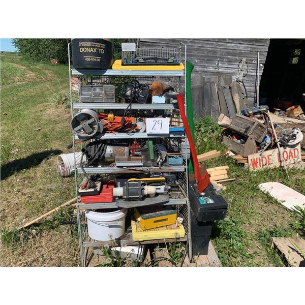 Storage rack, Batt. Charger, Banjo valve