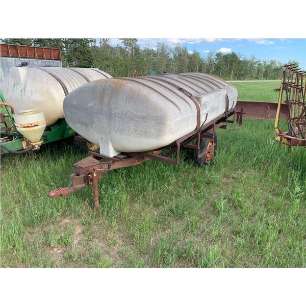 Water tank on trailer