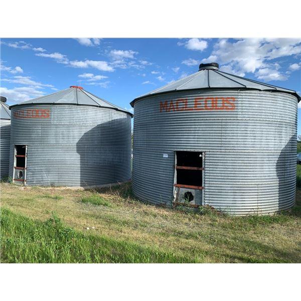 2 - McLeod flat bottom bins for parts - 19 ft
