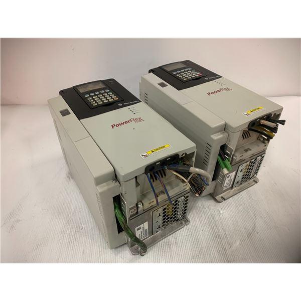 (2) Allen Bradley 20D D 022 A 3 EYNADACE Power Flex 700