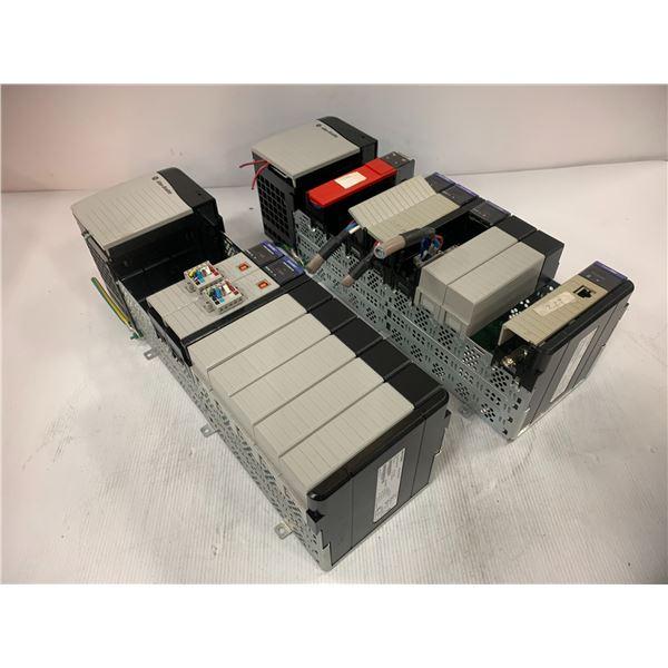 (2) Allen Bradley 1756-A10 10-Slot Chassis W/ Modules