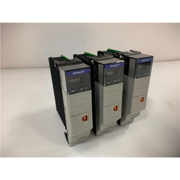(3) Allen Bradley 1756-EN2T Ethernet IP Module