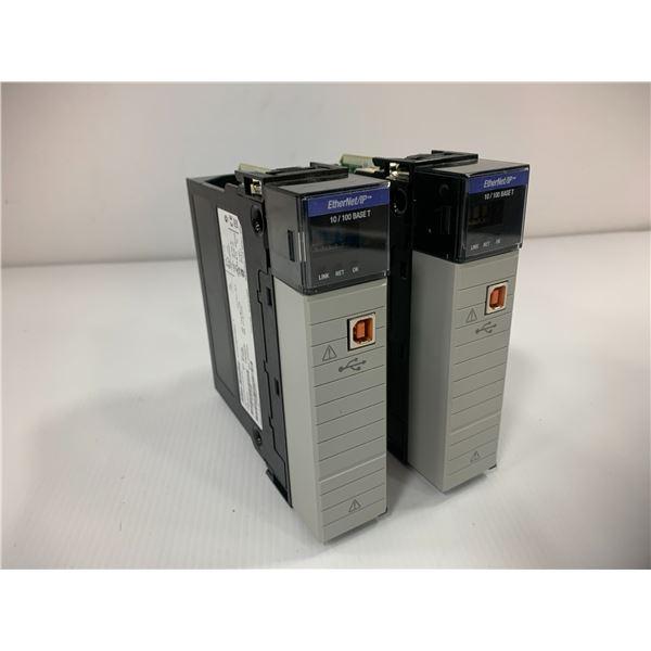 (2) Allen Bradley 1756-EN2T Ethernet IP Module