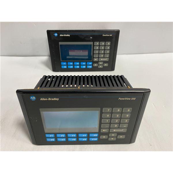 (2) - Allen-Bradley 2711-K5A5 PanelView 550