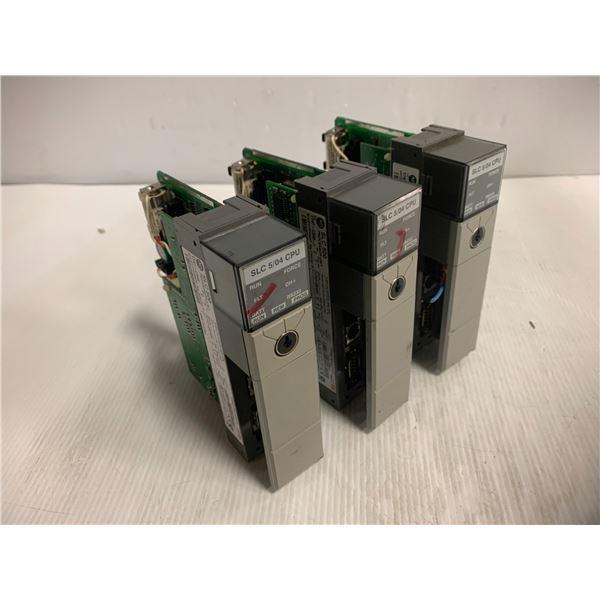 (3) - Allen-Bradley 1747-L542 SLC500 Processor Units