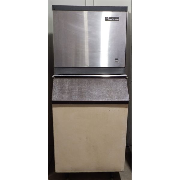 Used Scotsman Ice Machine CME506AS With Ice Bin
