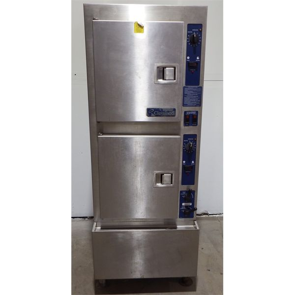 Used Cleveland Convection Steamer - Cabinet, Descaling Port, Natural Gas