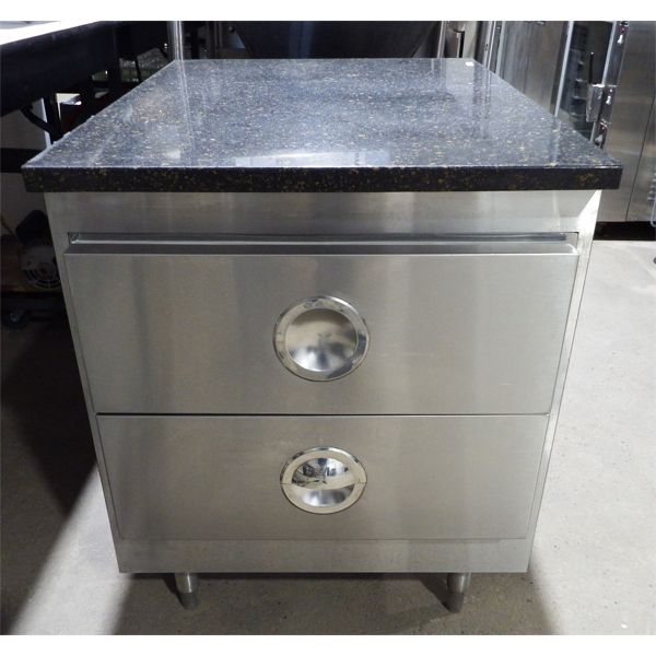 Used - Granite Table with 2 Cooling Drawers
