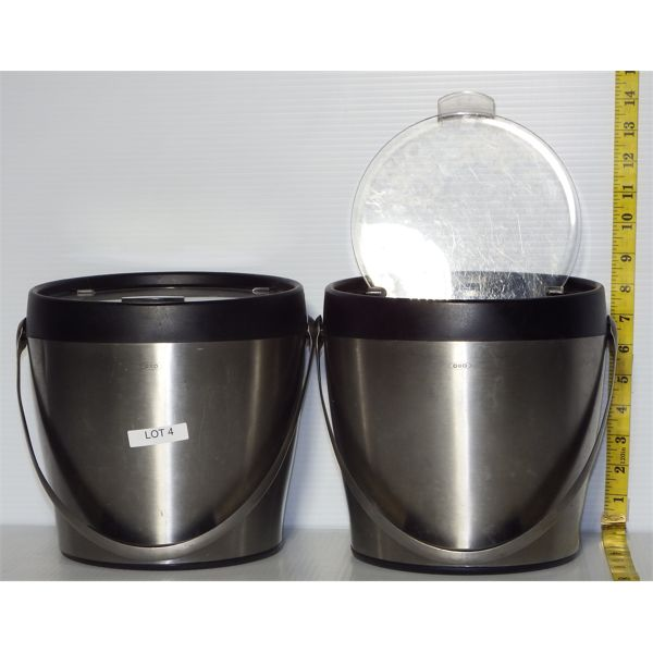 Lot of 2 Used OXO Ice Buckets with Lids
