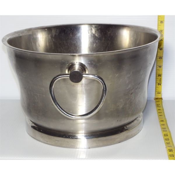 """Large Stainless Steel Ice Bin with 2 Handles, 18""""W x 15"""" D x 9"""" H"""