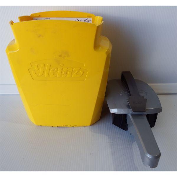 Used Heinz Brand Mustard Dispenser - Missing Interior Spout