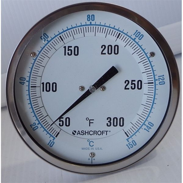 """Used Ashcroft 5"""" Thermometer"""